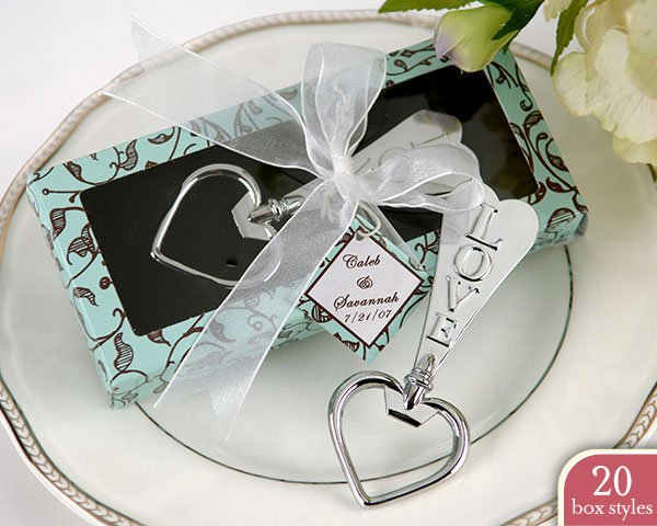 'Love and Hearts' Bottle Opener in Personality Box (20 styles/colors) (Set of 4)