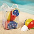 """Have a Ball!"" Hand Painted Ceramic Beach Ball Bottle Stopper"