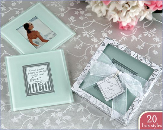 Forever Photo Coasters in Personality Box (20 styles/colors) (Sold as 4 sets of 2 coasters)