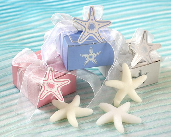 Starfish Soap  in Starfish Print Gift Box with Starfish Tag