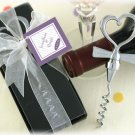 Tuxedo Heart Corkscrew in Gift Box with Sheer Organza Ribbon and Tag