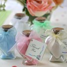 Scented Bath Salts in Glass Heart Bottle with Organza Bow and Tag