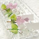''Allure' Glass Grapes Placecard Holders (Set of 4)