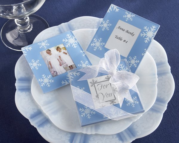 """""""Snowfall"""" Exquisite Glass Photo Coasters"""