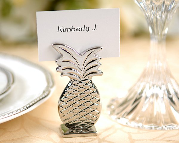 Silver Pineapple Placecard Holders (Set of 4)