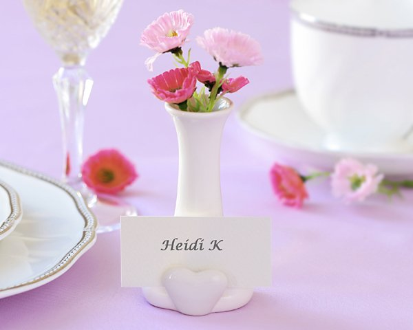 """A Place in my Heart"" bud vase and place card holder"