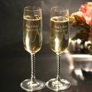 Spiral Stem Champagne Flutes (Set of two)