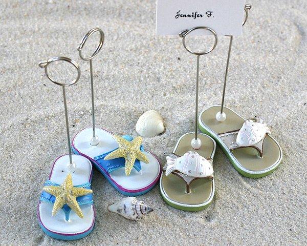 Beachcombers Flip Flop Placecard Holders - Set of 4 (2 pairs)