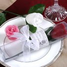 Long Stem Rose Candle in Showcase Cylinder Box with Ribbon