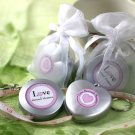 """Love Beyond Measure"" Measuring Tape Keychain in Sheer Organza Bag"