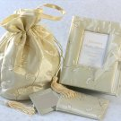 Elegant Embroidered Silk 3-Piece Gift Set- Ivory
