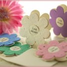 """LOVE GROWS"" Plantable Wildflower Favors- Daisy (Set of 12)"
