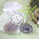 """Love Rocks"" Engraved and Polished Stone"