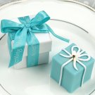 """Something Blue"" Gift Box Candle in Pearlized Box with Satin Printed Ribbon"
