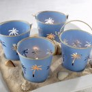 Palm Breezes Beach Pail Tealight Holder - Set of 4