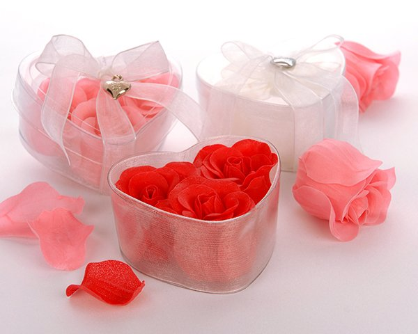 'Perfect Heart' Scented Rose Soaps with Silver Heart Charm