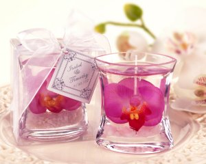 Elegant Orchid Gel Candle