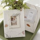 """Memories"" Guest Photo Album Favors - Pressed Leaves"