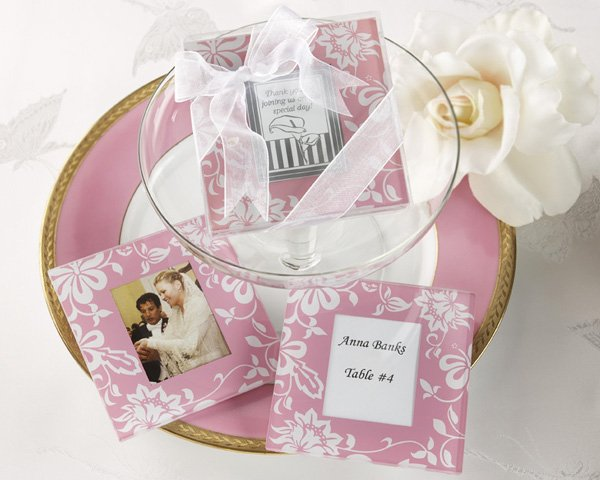 Picture Perfect Pink Glass Photo Coasters