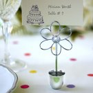 Silver Silhouette Placecard Holders - Set of 4 - Darling Daisy Theme