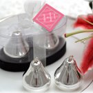 "Silver Plated ""The Perfect Pair"" Pear Salt and Pepper Shakers in Gift Box"