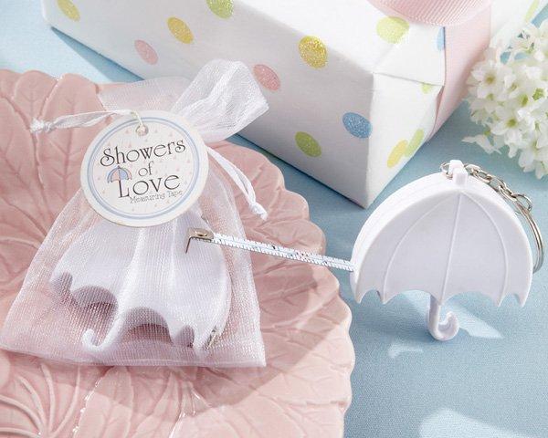"""Showers of Love"" Umbrella Measuring Tape in Organza Gift Bag"