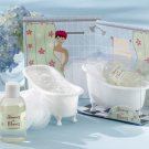 """Showers-n-Flowers"" 3 Piece Bath Gift Set in Re-Useable Bath Tub Soap Dish"