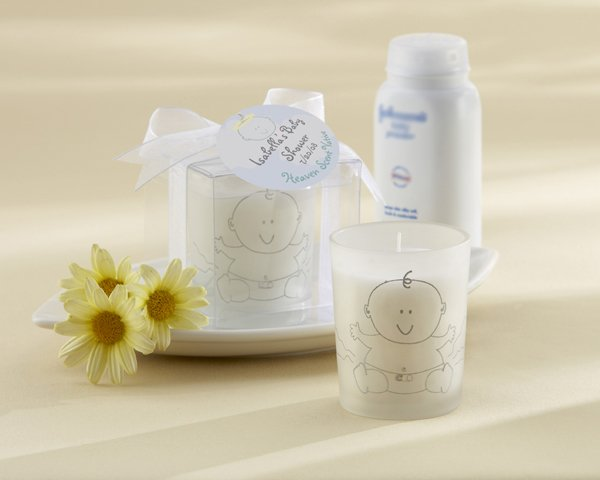 """""""Heaven Scent"""" Baby Powder Fresh Frosted Glass Votive"""