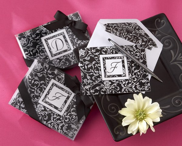 """Letter Perfect"" Elegantly Monogrammed Note Cards (Giftboxed in Sets of Ten Cards)"
