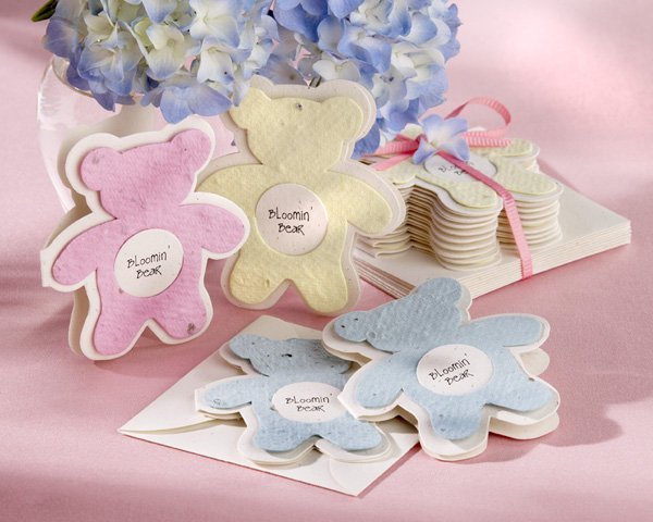 """Bloomin' Bear"" Plantable Wildflower Favors (Set of 12)"
