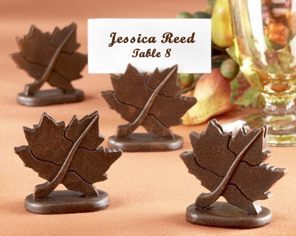 Classic Maple-Leaf Place Card Holder (Set of 4)