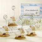 """Celebrate Baby"" Lamb Placecard/Photo Holder (Set of 4)"