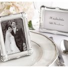 """Shining Moments"" Scalloped Silver-tone Photo Frame/Place Card Holder"