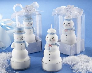 """""""Snow in Love"""" Tea Lights (Set of 4)"""