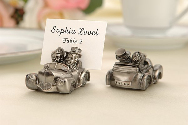 """Love's Journey"" Antique Getaway Car Placecard Holders- Set of 4"