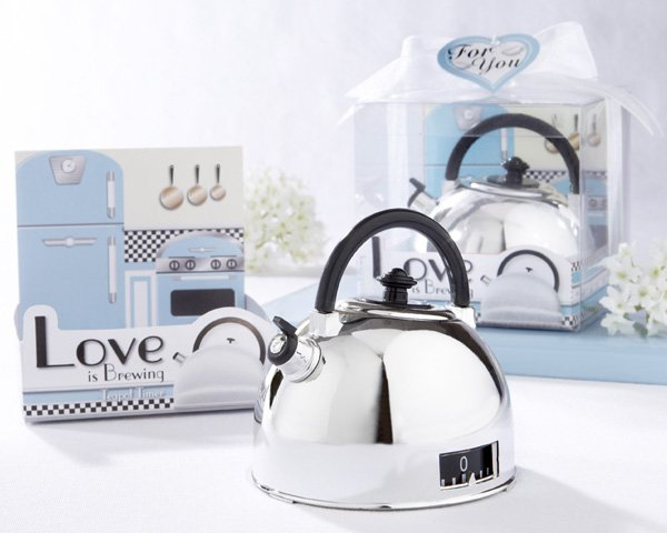 """Love is Brewing"" Teapot Timer in Classic Retro Gift Package"