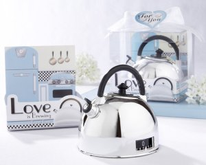 """""""Love is Brewing"""" Teapot Timer in Classic Retro Gift Package"""