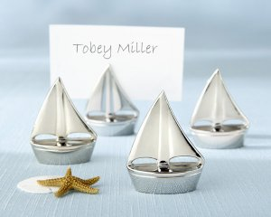"""""""Shining Sails"""" Silver Place Card Holders (Set of Four)"""