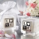 """L-O-V-E"" Engraved and Scented Square Votive Candle (Set of 4)"