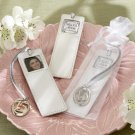 """Mis 15 Anos"" Leather Photo Bookmark in Sheer Organza Pouch"