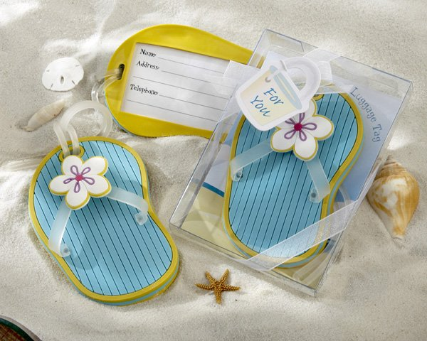 Flip-Flop Luggage Tag in Beach-Themed Gift Box
