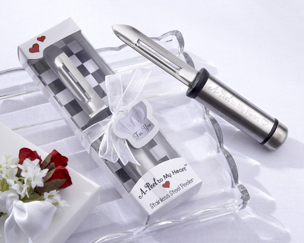 """A-Peel to My Heart"" Stainless-Steel Peeler"