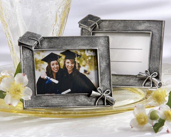"""Graduations"" Antique-Finish Photo Frame/Place Card Holder (Set of Four)"