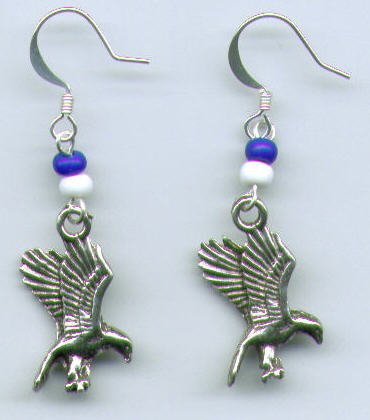 Eagle, Hawk, Mascot Earrings