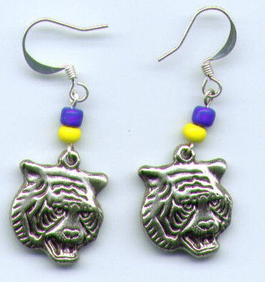 Tiger Mascot Earrings