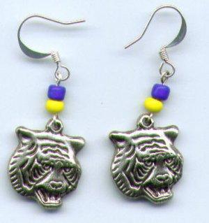 Tiger Mascot Earrings