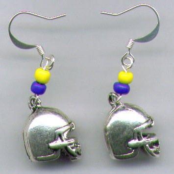 Football Helmet Earrings