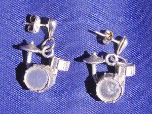 Drum Set Earrings