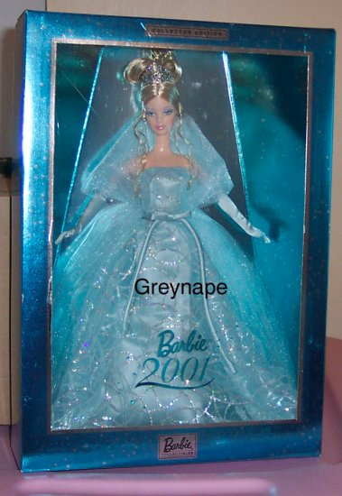 Barbie 2001 Collector Edition Special occasion NRFB aqua dress