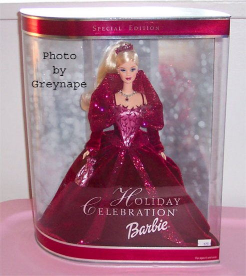 Holiday Celebration Barbie 2002 Red Dress NRFB Sp. EDition